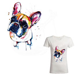 $enCountryForm.capitalKeyWord UK - New watercolor Cute dog 26*19cm iron on patches for clothes DIY T-shirt jacket hoodie Grade-A Thermal transfer stickers