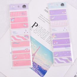 Stationery Australia - Unicorn Memo Pad Candy Color Paper Sticky Notes Cute Writing Pads Adhesive Label Stickers Kawaii Stationery School Supplies