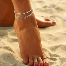 anklet NZ - 2018 BEST Price Women Girl Multi Layer Silver Crystal Ball Bracelet Anklet Ankle Foot Chain Women Jewelry 6#18100422510