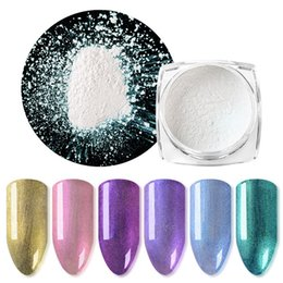 Nails Art Powder Australia - Mtssii 1 BOX DIY Magic Mirror Pearl Nail Art Glitter Powder Charming 9Colors Nail Dust Polishing for Nails Decorations