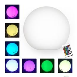 Опт 7 цвет RGB LED плавающий волшебный шар Led подсветкой бассейн мяч свет IP68 уличная мебель бар настольные лампы с пультом дистанционного управления