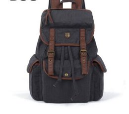 $enCountryForm.capitalKeyWord Australia - BBZ8 Thick Washed Canvas Leather Backpack Men Women girl's leisure Tote Handbag 4 colors Shoulders b