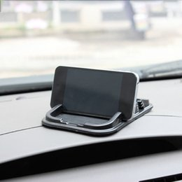 Framing mats online shopping - Large Double Card Slot Mobile Phone Mat Car Navigation Frame Clip Car Phone Holder Creative Supplies