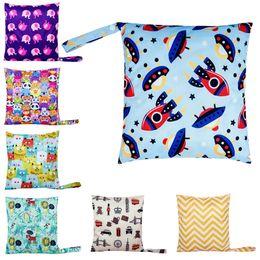 $enCountryForm.capitalKeyWord Australia - 2019 New Waterproof Reusable Wet Bag Printed Pocket Diaper Nappies Bags Travel Wet Dry Bags Size 30x28cm Diaper Bags