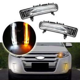 Oem White Amber Switchback Led Daytime Running Light Drl Turn Signal Lights Fit For   Ford Edge Nz