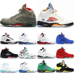 $enCountryForm.capitalKeyWord Australia - 2019 New 5 5s Mens Basketball Shoes Wings Fresh Prince PSG Black White Camo Grey Laney Oreo Designer Shoe Sports Men Trainers Sneakers