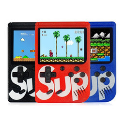 Player inch lcd online shopping - SUP Handheld game Console Portable Mini Game machine Classic video games player Inch Color LCD AV out best Gift