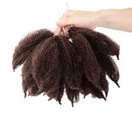 $enCountryForm.capitalKeyWord Australia - Flyteng 8 inch marley braids twist crochet braiding hair fluffy crochet bomb twist marlybob Kinky Curl crochet hair