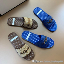 $enCountryForm.capitalKeyWord Australia - Classic Men Slippers Cool Slides in Soft Leather. Summer Beach Hotel Moccasins Sandals for Mens Shoes Come with Box Size 38-45