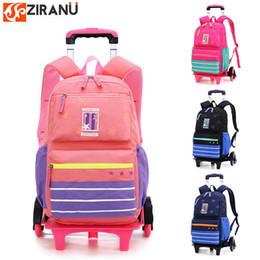 2db662e7aa73 6 wheels Trolley schoolbag brand fashion backpack 2 wheel teenagers book  bags primary school bag girls boys gift travel handbag Luggage