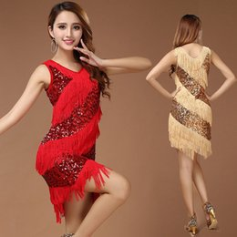 $enCountryForm.capitalKeyWord Australia - Red Latin Dance Costumes Women Salsa Dancewear Dance Costume Dresses Ballroom Competition Dresses Tango Adult Fringe Latin