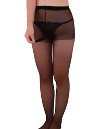 $enCountryForm.capitalKeyWord Australia - Sexy Sissy Fetish Men See Through Pantyhose Control Top Stockings with Penis Sheath Gay Underwear Lingerie