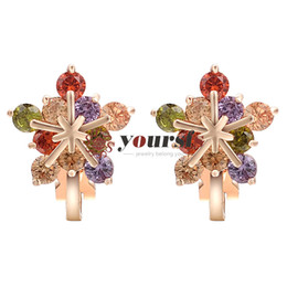 $enCountryForm.capitalKeyWord Australia - Yoursfs Snowflake Earrings For Teen Girls Sparkling Cubic Zirconia Crystals Clip On Earrings in 18K Rose Gold Plated