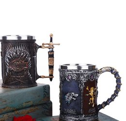 Games skull online shopping - GAME OF THRONES Mug IRON THRONE TANKARD Skull Mug Beer Drinkware Cup Coffee Mug Tea Cup Halloween Bar Drinkware LJJK1779
