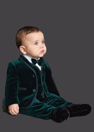 Boys Fashion Formal Suits Australia - Fashion 1 Pieces Velvet Baby Suit Kids Blazers Boy Suit For Prom Wedding Formal Autumn Winter Wedding Dress