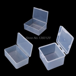 Beads Storage Boxes Australia - Round Clear Plastic Containers Beads Crafts Jewelry Display Storage Boxes Case Nov18