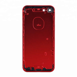 $enCountryForm.capitalKeyWord Australia - Original Material for IPhone 7 & 7 Plus Full Back Housing Middle Frame Bezel Chassis Battery Door with Side Buttons DHL