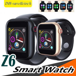 $enCountryForm.capitalKeyWord Australia - Z6 Sport Smart Watch Bluetooth 3.0 Fitbit Tracker With Camera Touch Screen Smartwatch 1.54 inch Support Android Phone Sim TF Card