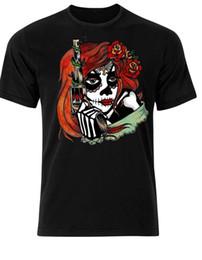 Sugar gun online shopping - Sugar Skull Gun Dia Los Muertos Day Of The Dead Halloween Mens T Shirt AH81