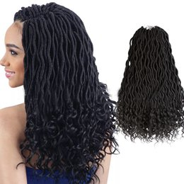 Hair Extensions Tail Australia - New Style Ladies Wig Crochet hair, long hair Goddess locs, chemical fibre wig curl loose tail 20 inches,