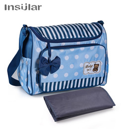 e56c3b14c2 Fashion Multifunctional Diaper Bags for Baby Care with bowknot cartoon bear Nappy  Changing Bag Large Desinger Maternity Bag
