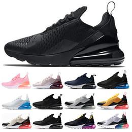 db5d7cec nike air max 270 2019 nuevos hombres para mujer zapatos para correr triple  blanco negro Hyper Grape azul marino té Berry Tiger mujeres entrenadores ...