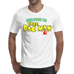 $enCountryForm.capitalKeyWord Australia - Pac-Man logo play game Man Tops Tees Stretch Hiking Cotton Short Sleeve Shirts Man Gym T Shirt Vintage T Shirts for Man