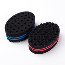 $enCountryForm.capitalKeyWord Australia - Magic Double Head Sponge Men Barber Hair Brush Black Dreads Locking Afro Twist Curl Coil Brush Hair Styling Tools Hair Care