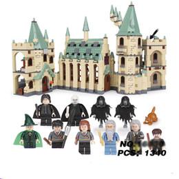 Harry Potter Blocks Australia - In stock Movie Hogwarts castle compatible Harry Potter Movie with Action Figure Blocks Model Building Kit Baby Toys For Children