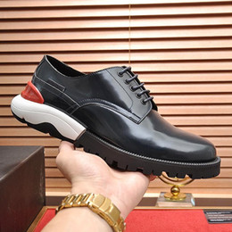 style winter shoes Canada - High Quality Derby Shoes Party Men's Wedding Formal Flats Autumn Winter Shoes Breathable Comfortable Leather Shoes Style Footwears Drop Ship