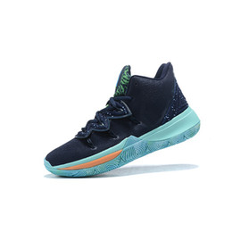 9acb1ceee550 Cheap womens kyrie 5 basketball shoes black Blue BHM White Purple boys  girls youth kids kyries irving v sports sneakers boots with box 7 12