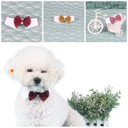 cartoon neckties Australia - Cute Pet Doggy Collar Fashion Lattices Prints Cats Bowknot Ties For Clothing Decoration Pets Necktie 7 Colors Option 4 71zz E1