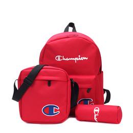 Crossbody baCkpaCk handbag online shopping - Champion Backpack Crossbody Fanny Pack Brand Handbags Luxury Schoolbag Student Travel Shoulder Bags Kids Pencil Bag Purses set C82006