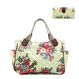 $enCountryForm.capitalKeyWord Australia - Nice- 1 X Flower Floral Day Shopper Tote Hang Bag + 1 X Flower Floral Long Coin Purse Women Female Oilcloth Material Gift 1 Set