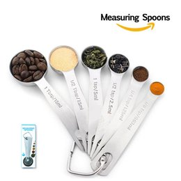 $enCountryForm.capitalKeyWord Australia - 6 Pcs Hot Sale Stainless Steel Measuring Cup Kitchen Measuring Spoons Scoop For Baking Sugar Coffee Measuring Tools Sets