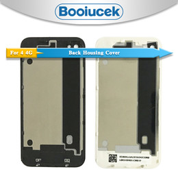 4s Housing Australia - High quality For iphone 4 4G or 4S Back Housing cover Battery Cover Rear Door Chassis Replace or