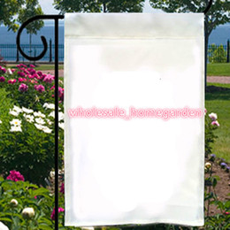 Banner Gift Australia - Polyester Blank Garden Flags Customized Gifts Garden Flag Gifts Flags 30*45cm garden Decoration Banner 2019 New