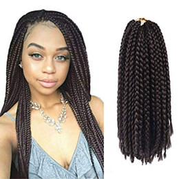 $enCountryForm.capitalKeyWord NZ - 18Inch 3X Box Braids Crochet Hair Styles For Womenn Soft Neat Small kanekalon Synthetic Crochet Hair Extensions Braids