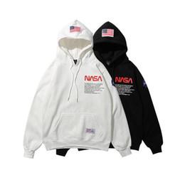 Nueva marca Heron Preston para hombre diseñador negro sudadera con capucha  NASA hip hop sudaderas bandera americana para hombre sudadera con capucha  ... 1ccfbf430b9