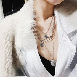 Coined neCklaCes online shopping - designer jewelry sweater necklace coin pendant pin fashion long necklace unique for women hot fashion