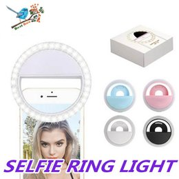 smartphone photography UK - Rechargeable Selfie Ring Light Portable Flash Led Camera Phone Photography Enhancing Photography For Smartphone iPhone Samsung With Package