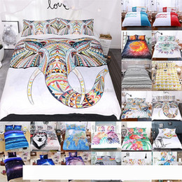 3d bedding set wholesale NZ - 3D Printed Bedding Sets 3pcs set Luxury Duvet Cover Pillowcases Home Bedding Supplies Textiles Christmas Decorative 45 Style WX9-1031