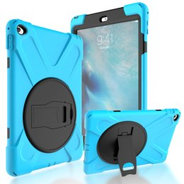 """Tablet Stand Kids Australia - Armor Heavy Duty Case For new iPad Pro 10.5"""" 2017 A1701 9.7""""Cover Funda Tablet Kids Safe Shockproof Silicone Hard Stand Hand Shell"""