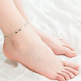 $enCountryForm.capitalKeyWord NZ - Copper Material Simple Fashion Interlaced Austrian Zircon Anklet Charm Leg Anklets For Women Ankle Bracelet Woman Anklet Female Foot Jewelry