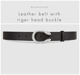 tiger head belt NZ - Designer Belts Luxury Belts Mens Womens Famous Belt Brand Casual Tiger Head Smooth Buckle Leather Belt 2 Colors Width 38mm High Quality