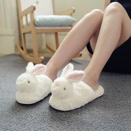 $enCountryForm.capitalKeyWord Australia - Kawaii Fluffy Women Winter Home Slippers Ladies Animal Cute Bunny Warm Plush Indoor Slippers House Soft Casual Shoes For Girls
