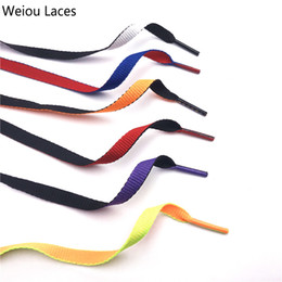 $enCountryForm.capitalKeyWord Australia - Weiou 8mm Combo Two-Tone Reversible Shoelaces Double Sided Silk Shoe Laces Flat Laces Dual Color Shoestrings For Sports Boots 120cm