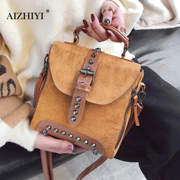 $enCountryForm.capitalKeyWord Canada - Casual Women Rivet Backpack Small Ladies Vintage Shoulder Hand Bags Mini Travel School Crossbody Bag for Girls Teenage Female