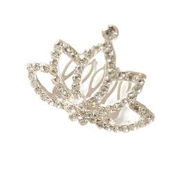 $enCountryForm.capitalKeyWord UK - Korean children's hair accessories head jewelry girls cute crown princess little girl rhinestone crown hairpin baby hair comb