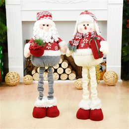 doll ornaments NZ - Birthday Festival Xmas Happy New Year Gift Retractable Standing Figures Toy Christmas Decoration for Home Ornaments Doll Navidad